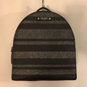 KATE SPADE Haven Lane Sammi Backpack Black Glitter